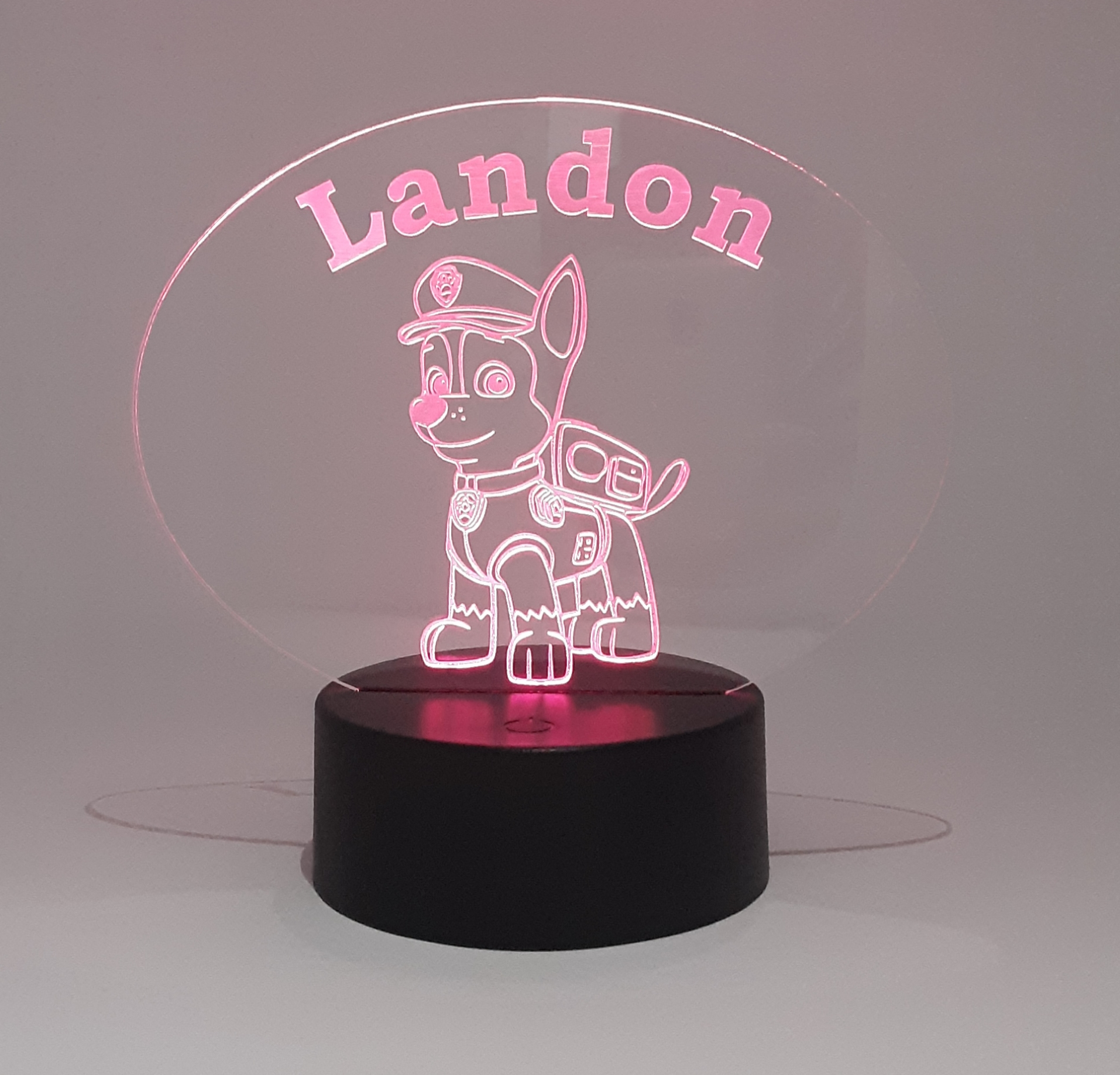 LHT005 - Acrylic Sign with Round LED Light Base