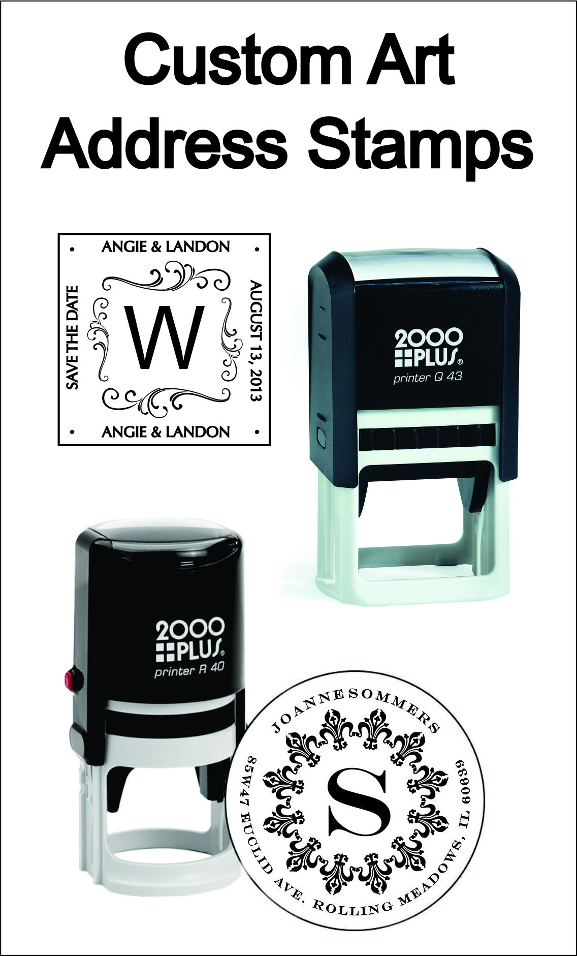 Custom Made Self Inking Rubber Stamps