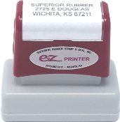 "EZ-10 - EZ Printer #10: 11/16"" x 2"" Stamp"