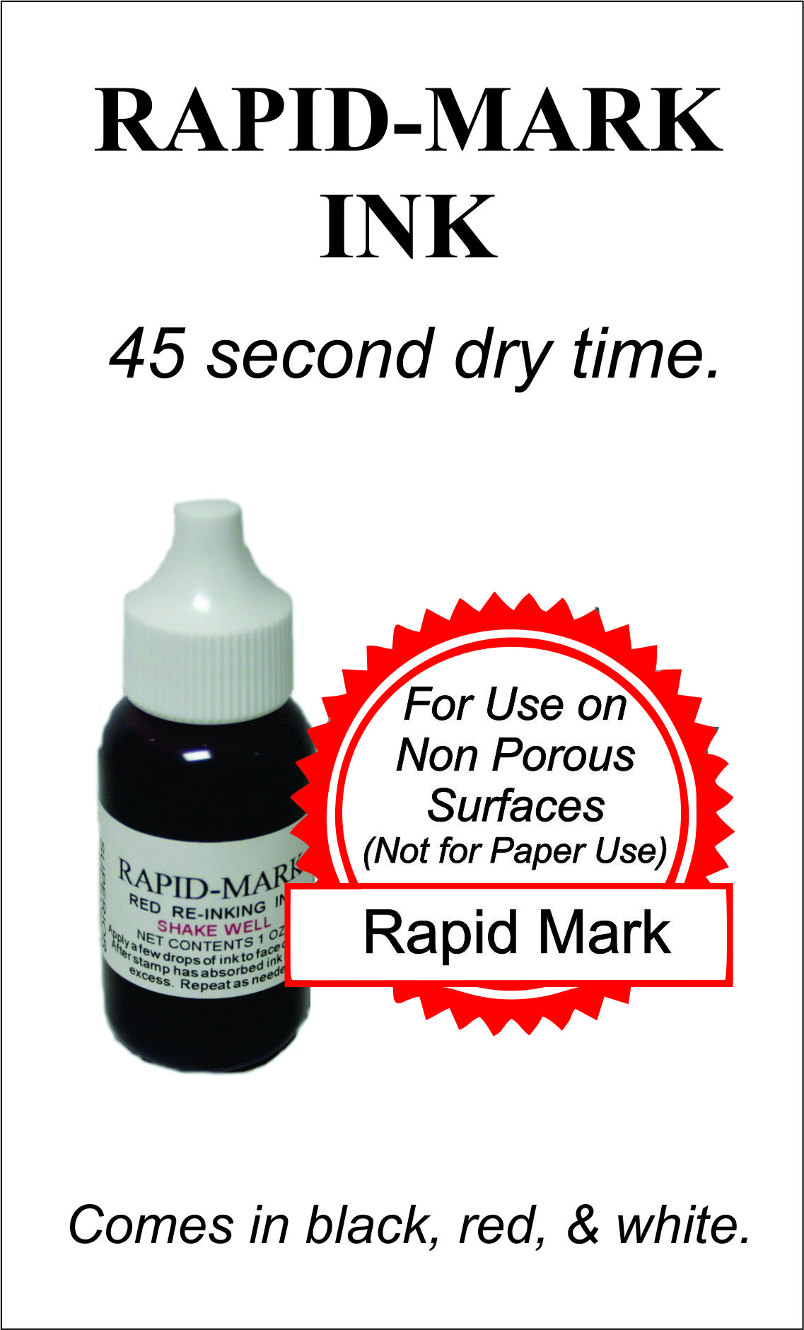 Rapid Mark Ink