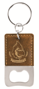 SQUAREBOTTLEKEYCHAIN - Leatherette Square Bottle Opener Key Chain