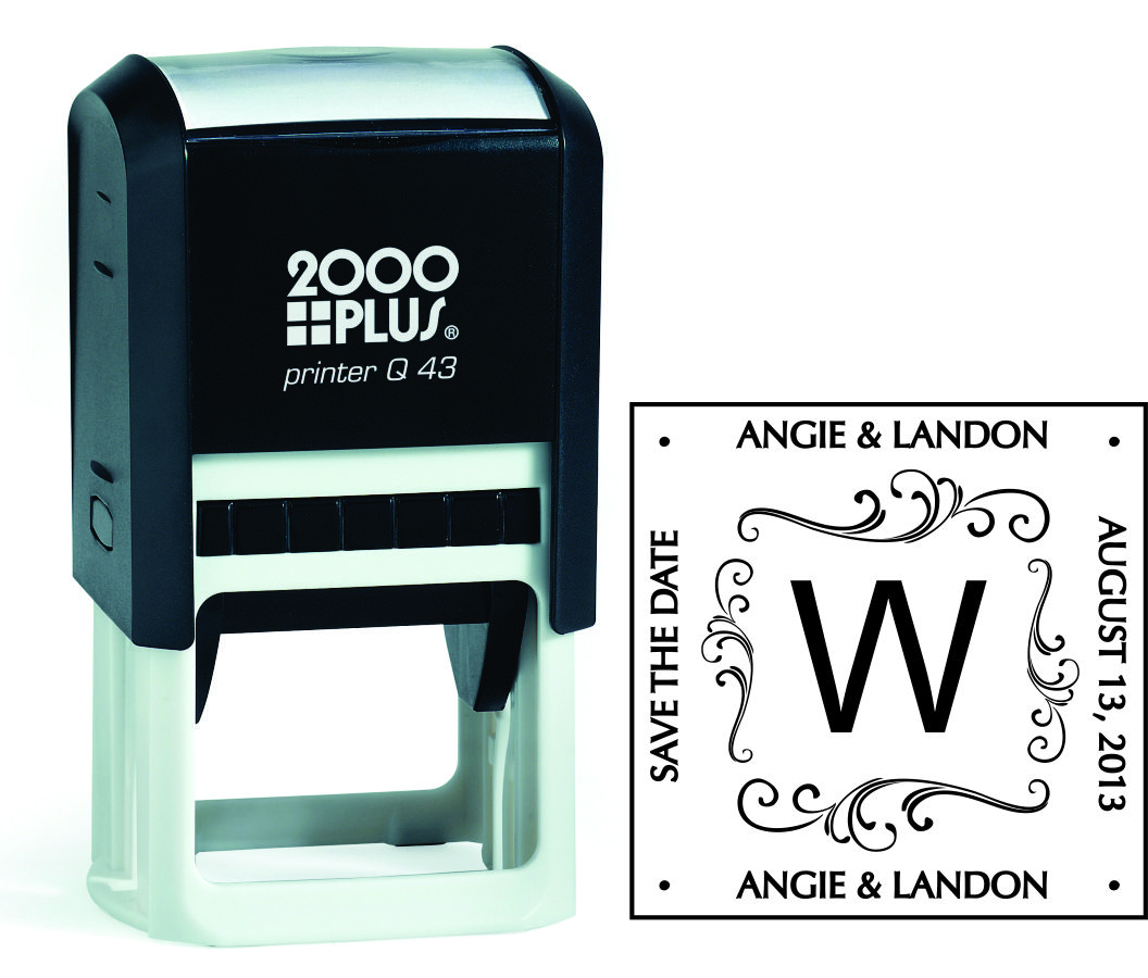 Q43 Square Art Address Stamp